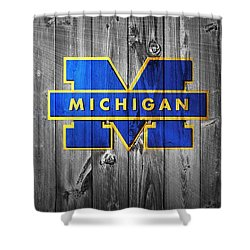 University Of Michigan Shower Curtain by Dan Sproul