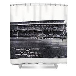 University Of Pittsburgh Vs W And J College Forbes Field Pittsburgh Pa 1915 Shower Curtain by Bill Cannon