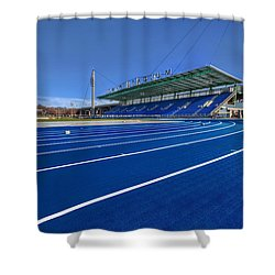 Until The Race Is Run Shower Curtain by Evelina Kremsdorf