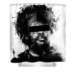 Untitled Shower Curtain by Balazs Solti