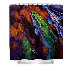 Up Stream Shower Curtain by Savlen Art