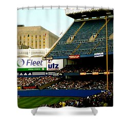Upper Deck  The Yankee Stadium Shower Curtain by Iconic Images Art Gallery David Pucciarelli
