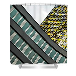 urban rectangles III Shower Curtain by Hannes Cmarits