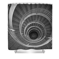urban spiral - gray II Shower Curtain by Hannes Cmarits