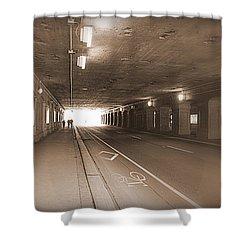 Urban Tunnel Shower Curtain by Valentino Visentini