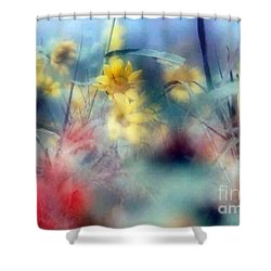 Urban Wildflowers Shower Curtain by Michael Hoard