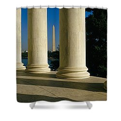 Usa, District Of Columbia, Jefferson Shower Curtain by Panoramic Images