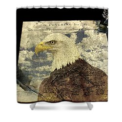 USA Shower Curtain by Jack R Perry