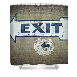 Usa, Mississippi, Exit Sign In Great Shower Curtain by Dosfotos