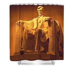 Usa, Washington Dc, Lincoln Memorial Shower Curtain by Panoramic Images