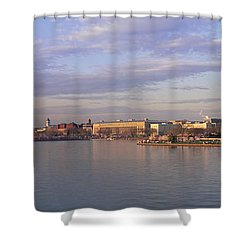Usa, Washington Dc, Tidal Basin, Spring Shower Curtain by Panoramic Images