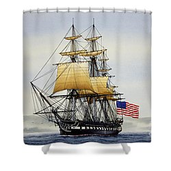 Uss Constitution Shower Curtain by James Williamson
