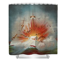 Uss Maine Circa 1898  Shower Curtain by Aged Pixel