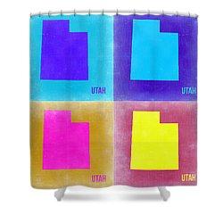 Utah Pop Art Map 2 Shower Curtain by Naxart Studio