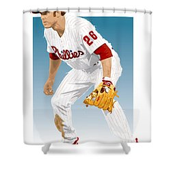 Utley In The Ready Shower Curtain by Scott Weigner