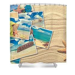 Vacation Postcards Shower Curtain by Amanda And Christopher Elwell