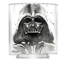 Darth Vader Watercolor Shower Curtain by Olga Shvartsur