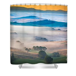Val D'orcia Enchantment Shower Curtain by Inge Johnsson