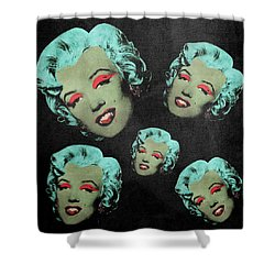 Vampire Marilyn 5a Shower Curtain by Filippo B