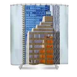 Vancouver Reflections No 1 Shower Curtain by Ben and Raisa Gertsberg