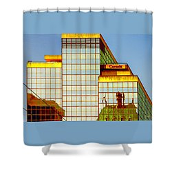 Vancouver Reflections No 2 Shower Curtain by Ben and Raisa Gertsberg