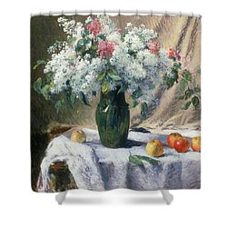 Vase Of Flowers Shower Curtain by Henri Lerolle
