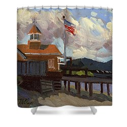 Vashon Island 4th Of July Shower Curtain by Diane McClary