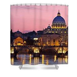 Vatican Twilight Shower Curtain by Brian Jannsen