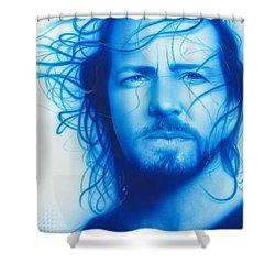 Eddie Vedder - ' Vedder ' Shower Curtain by Christian Chapman Art