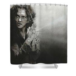 Eddie Vedder - ' Vedder Iv ' Shower Curtain by Christian Chapman Art