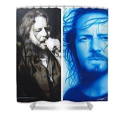 Eddie Vedder - ' Vedder Mosaic I ' Shower Curtain by Christian Chapman Art