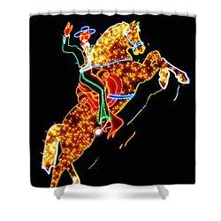 Vegas Cowboy Sign Shower Curtain by John Malone