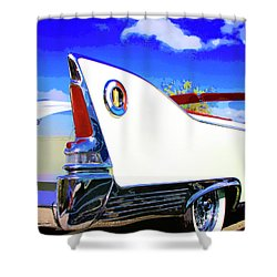 Vehicle Launch Palm Springs Shower Curtain by William Dey