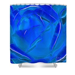 Veil Of Blue Shower Curtain by Kaye Menner