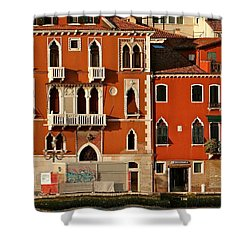 Venetian Red Shower Curtain by Ira Shander
