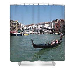 Venice Gondolier Shower Curtain by John Malone