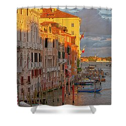 Venice Romantic Evening Shower Curtain by Heiko Koehrer-Wagner