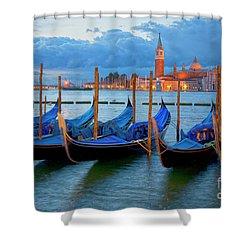 Venice View To San Giorgio Maggiore Shower Curtain by Heiko Koehrer-Wagner