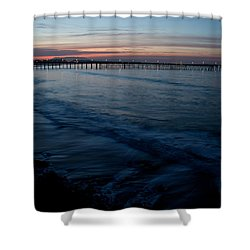 Ventura Pier Sunrise Shower Curtain by John Daly