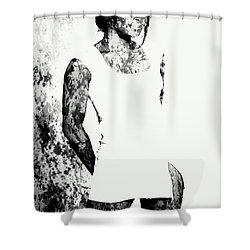 Venus Williams Paint Splatter 2c Shower Curtain by Brian Reaves