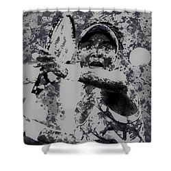 Venus Williams Paint Splatter 2e Shower Curtain by Brian Reaves