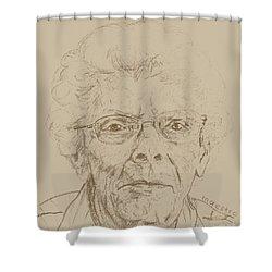 Vera Shower Curtain by PainterArtistFINs Husband MAESTRO