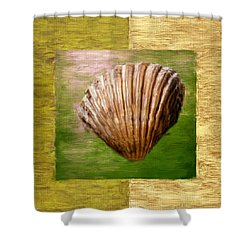 Verde Beach Shower Curtain by Lourry Legarde