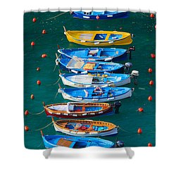 Vernazza Armada Shower Curtain by Inge Johnsson