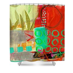 Vertical 5 Shower Curtain by Jane Davies