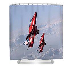 Vertical Arrows Shower Curtain by J Biggadike