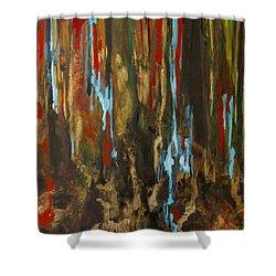 Vertical Shower Curtain by Olga Zamora