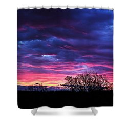 Vibrant Sunrise Shower Curtain by Tim Buisman