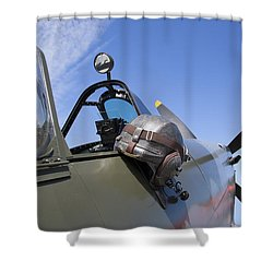 Vickers Spitfire Shower Curtain by Daniel Hagerman