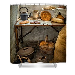 Victorian Bakers Shower Curtain by Adrian Evans